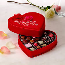 heart chocolate s day satin embroidered heart chocolate gift box 25 pc