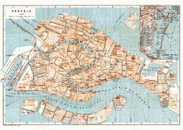 venice map map of venice in 1929 buy vintage map replica poster print or