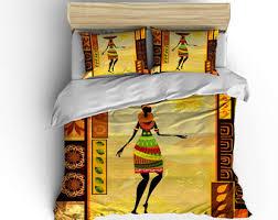 Tribal Pattern Comforter African Bedding Etsy