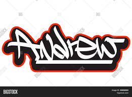 Name Style Design by Andrew Graffiti Font Style Name Hip Hop Design Template For T