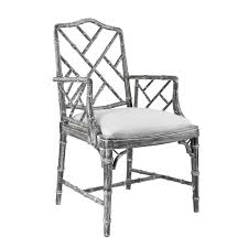 luxury home decor stores in delhi bungalow 5 quay faux bamboo chippendale arm chair in gray faux