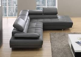 Modern Gray Leather Sofa Stylist Modern Grey Leather Corner Sofa Right Cantos