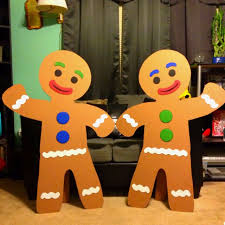 Large Christmas Decorations Props by My Husband Made These Out Of Cardboard For A Candy Land B Day