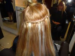 Blonde Weft Hair Extensions by Weft Extensions With Beads Indian Remy Hair