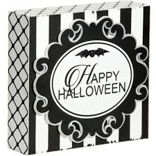 happy halloween sign black and white 6