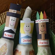 thanksgiving napkin rings placecards crafts by amanda
