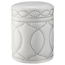 Ivory Storage Ottoman Tufted Storage Ottoman Bench With Nailhead Ivory Target