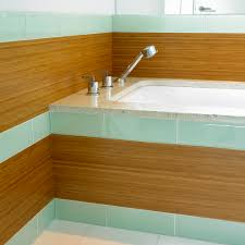 Bamboo Floor In Bathroom Glass Tile Bathroom Bathroom Contemporary With Bamboo Paneling