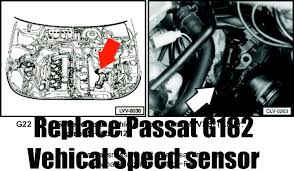 how to replace volkswagen passat 1 8t g182 sensor vehical speed