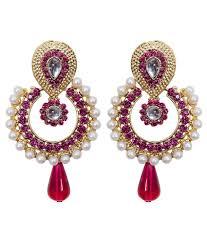 designer earrings grand jewels pink designer earrings buy grand jewels pink
