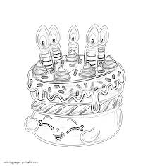 shopkins gracie birthday cake coloring pages