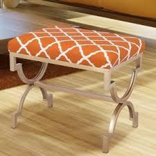 printed fabric ottoman wayfair