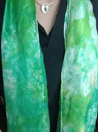 unique silk scarf 100 silk fresh green colour soft material