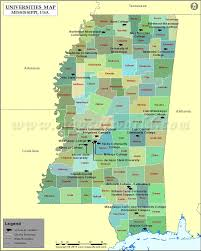 Map Of Usa East Coast by List Of Universities In Mississippi Map Of Mississippi Colleges