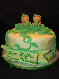 two peas in a pod baby shower cake for my friend having twins