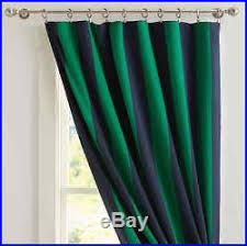 Navy And Green Curtains 2 New Pottery Barn Rugby Stripe Blackout Curtains Drapes 96