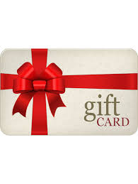 gift card 25 gift certificate