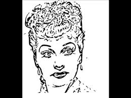 how to draw lucille ball face sketch drawing step by step youtube