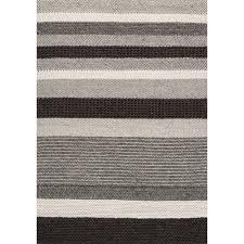Black And Cream Rug Alpine Stripes Pattern Rug Black Cream Kalora Interiors Inc