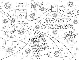 happy holidays coloring pages free printable holiday within eson me