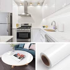 white kitchen cabinets walls livelynine glitter glossy white contact paper self adhesive wallpaper stick and peel for bedroom walls desk kitchen cabinets countertops vinyl sticker
