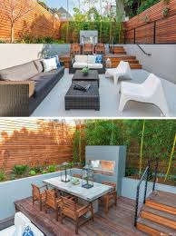 backyard design idea use multiple levels to define different