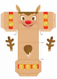 Reindeer Christmas Decoration Pattern by Easy Homemade Reindeer Christmas Gift Box Templates 2014