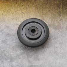 parts unlimited black idler wheel w bearing 0411674 snowmobile