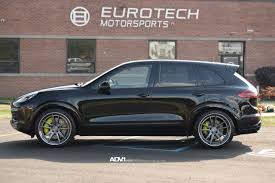 porsche suv blacked out porsche cayenne adv5 2 track spec sl concave wheels brushed