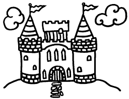 Easy Castle Coloring Pages For Kids Coloringstar Coloring Pages Castles