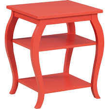 Orange Side Table Powell 14a8091 Panorama Orange Side Table W 2 Shelves