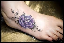 55 beautiful rose tattoos on foot