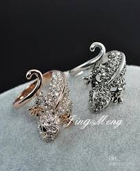 cute jewelry rings images Antique rings silver plated vintage retro cocktail crystal lizard jpg