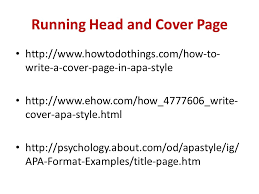 writing in apa format example running head and cover page write a cover page in apa style cover