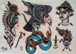 traditional tattoo flash eagle tattoo flash sick ink bruh