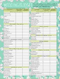 wedding checklist 7 wedding budget checklist procedure template sle