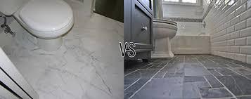 the great bathroom tile debate marble vs porcelain