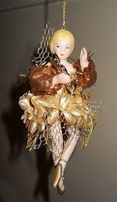 seasons of elegance gold fairy elf santa claus christmas ornament