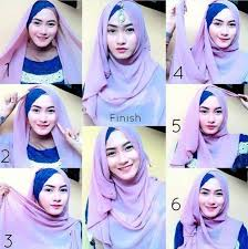 tutorial hijab pesta 2 kerudung papasemar com 11 tutorial hijab segi empat simpel ini akan membuat