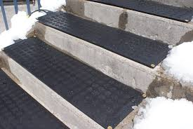 flooring safety stair using non slip stair treads in black for