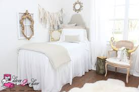 neutral tan white dorm room farmhouse style shabby chic decor