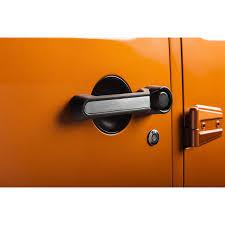 jeep wrangler 4 door orange rugged ridge 13311 41 door handle inserts aluminum 4 door 07 16