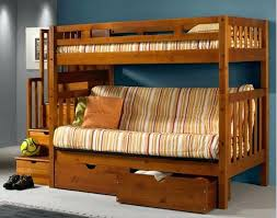 Bunk Bed With Futon Bottom Loft Bed With Futon Futon Stairway Bunk Bed Wood Bunk Bed With