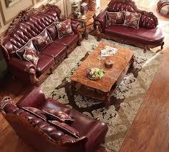 canap de charme charme maître style européen canapé en cuir 123 ensembles de bois