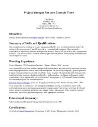 Sample Resume For A Career Change by Project Management Resume Objective Managing Attorney Sample