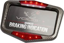 motorcycle license plate frame with led brake light vololights motorcycle led licence plate frame with deceleration