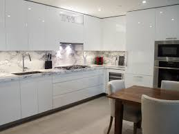 Kitchen No Backsplash by Custom Kitchen Design White High Gloss Handle Less Cabinetry