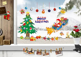 2015 merry christmas xmas tree santa claus cartoon cute wall 2015 merry christmas xmas tree santa claus cartoon cute wall sticker window home diy decal decor childrens wall stickers for bedrooms circle wall decals