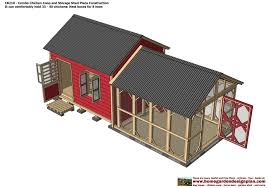 cb210 combo plans chicken coop plans construction garden sheds