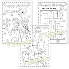 frozen birthday party coloring pages pdf file